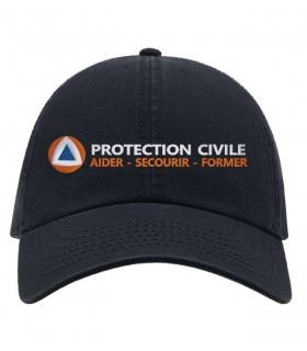 casquette marine protection civile brodée