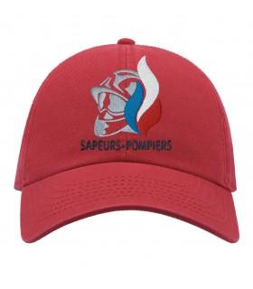 casquette sapeurs pompiers rouge brodé