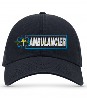 casquette ambulancier marine brodé