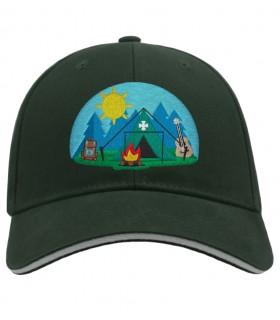 Casquette brodé logo camp scout